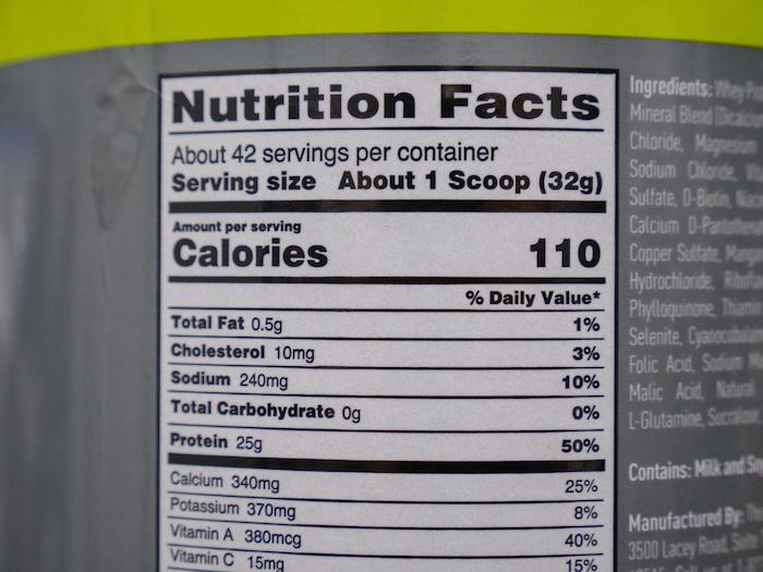 isopure zero carb nutrition
