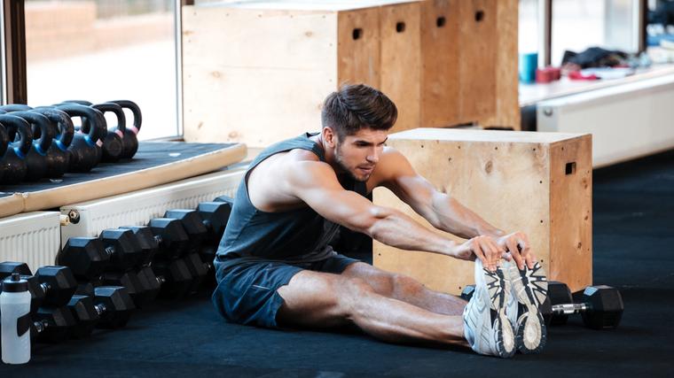 gym hamstring stretch