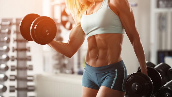 female physique athlete