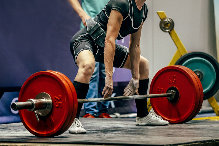 woman powerlifting meet