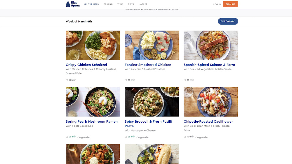Blue Apron Ordering