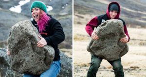 First Women to Lift Husafell Stone