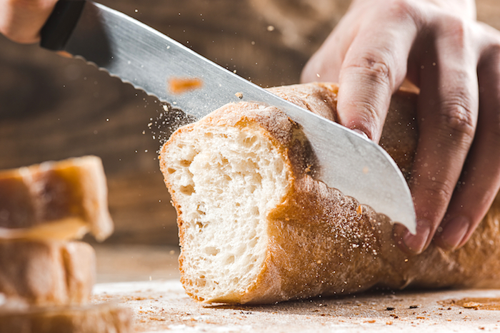 cut bread gluten