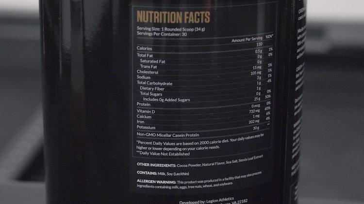legion casein nutrition