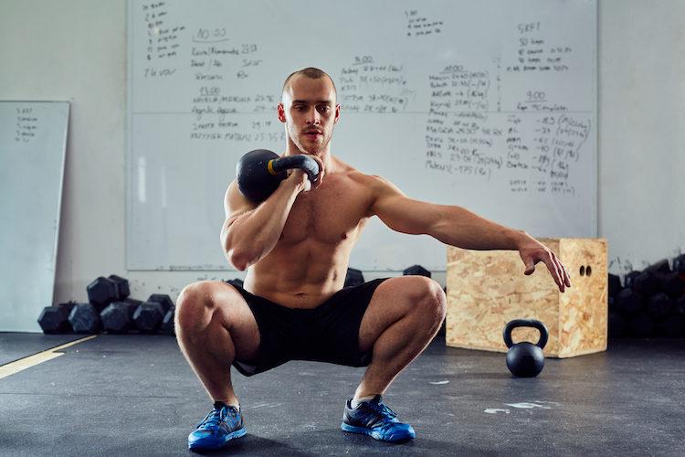 unilateral kettlebell squat