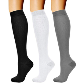 CHARMKING Compression Socks for Women & Men (3 Pairs)