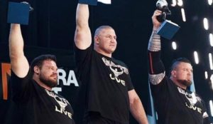 Giants Live Strongman Contest Podium