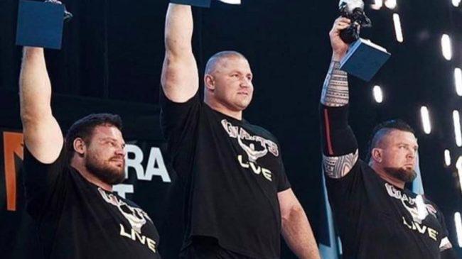 Giants Live Strongman Contest Podium