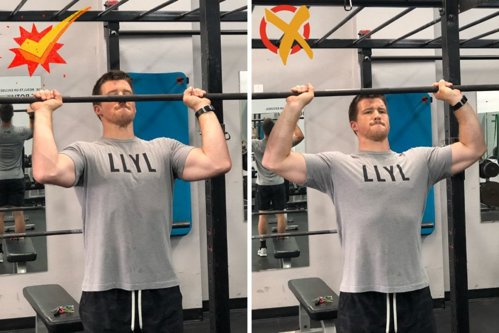 Overhead Press Elbow Flare