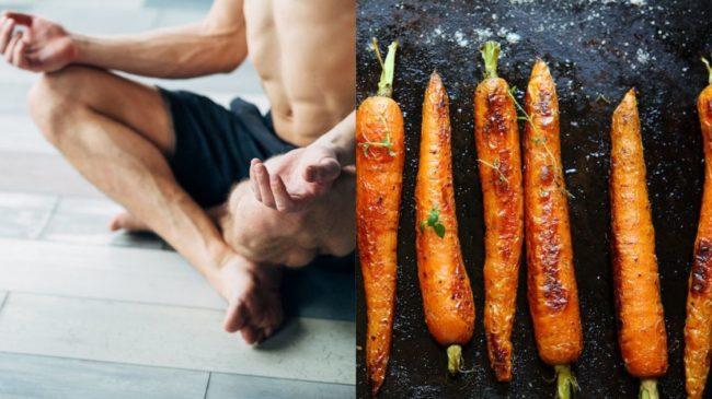carrots and meditating