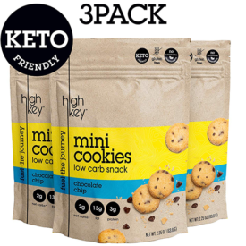 HighKey Snacks Keto Mini Cookies – Chocolate Chip