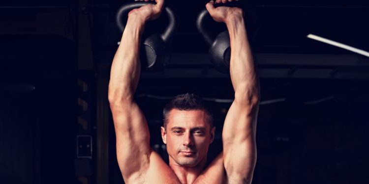 kettlebell shoulder press