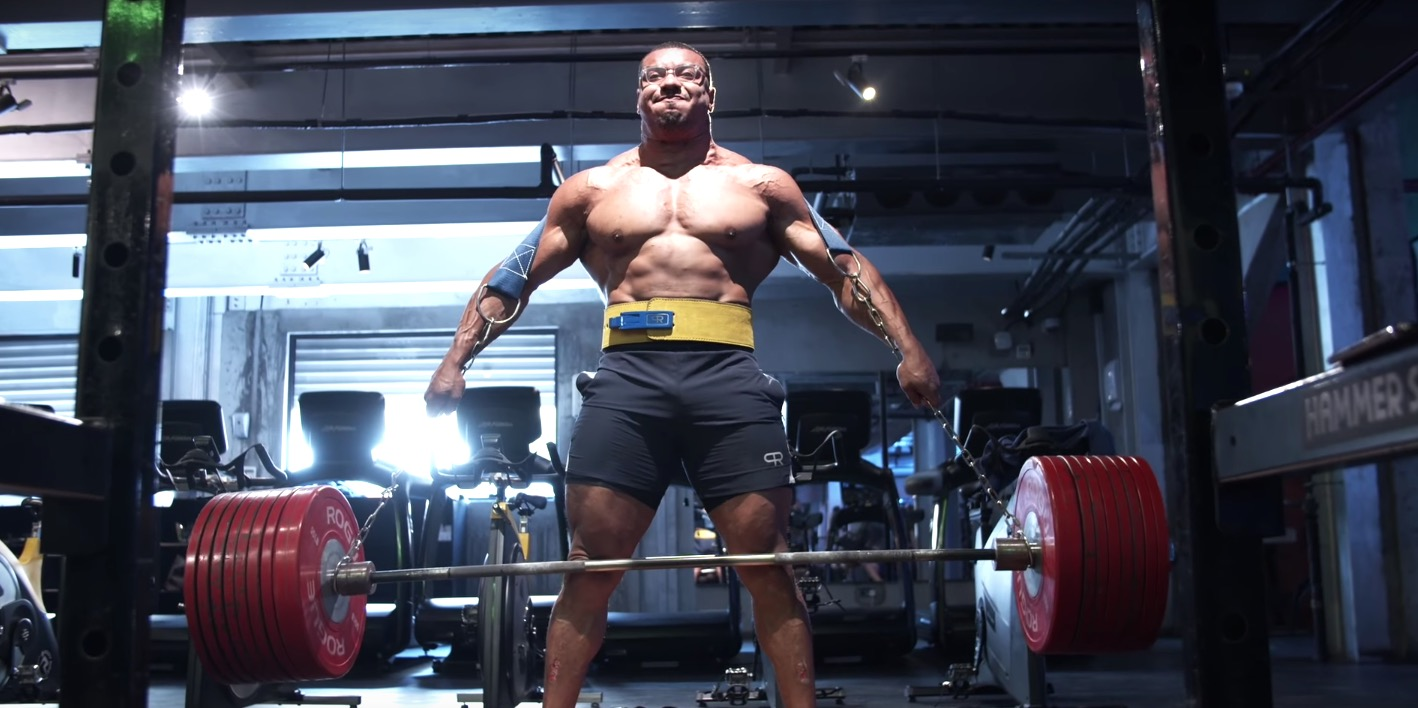 Watch Larry Wheels Deadlift 937 Pounds With No Hands