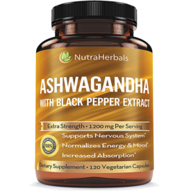 NutraHerbals Ashwagandha With Black Pepper Extract