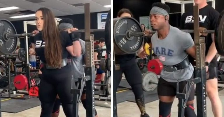 Amanda Lawrence and Russel Orhii Squat Session