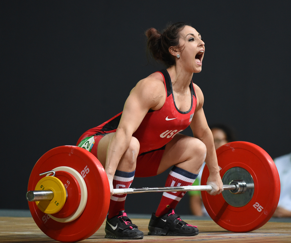 olympic weightlifting athlete