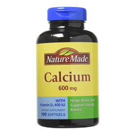 Nature Made 600mg Calcium Tablets with Vitamin D