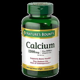 Nature's Bounty Absorbable Calcium 1200mg Plus 1000IU Vitamin D3