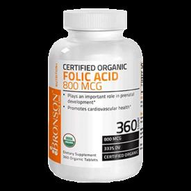 Bronson Organic Folic Acid