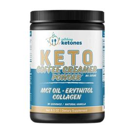 Catching Ketones French Vanilla Keto Coffee Creamer with MCT Oil