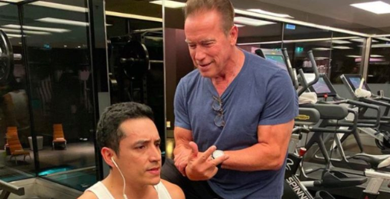 Arnold Training on Vacation