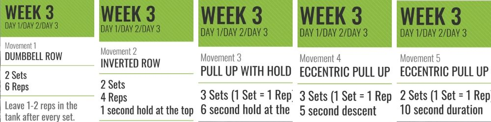 Beginner Pull-Up Program Week 3