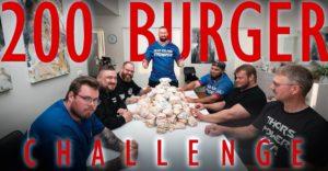 FOOD CHALLENGE- 200 BURGERS