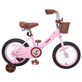 JOYSTAR Kids Bike with Basket & Training Wheels