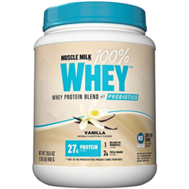 Muscle Milk 100% Whey Protein Blend With Probiotics