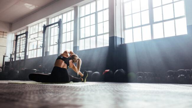 gym stretch