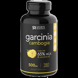 Sports Research Pure Garcinia Cambogia with Organic Coconut Oil