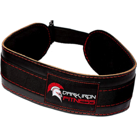 Dark Iron Fitness Leather Weight Lifting Dip Belt