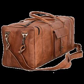 Leather Duffel Bag 28 inch Large Travel Bag Gym Sports Overnight Weekender Bag