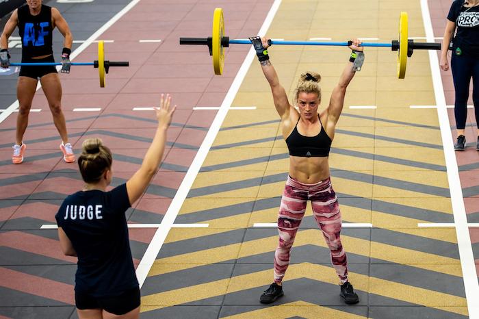 Maddie Sturt lifts a barbell