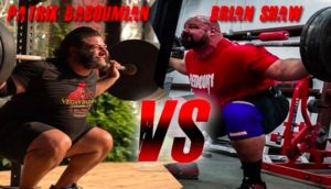 Strongman athletes Patrick Baboumian and Brian Shaw