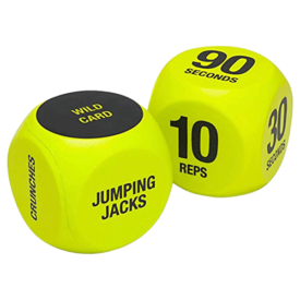 SPRI Exercise Dice (6-Sided) - Game for Group Fitness & Exercise Classes