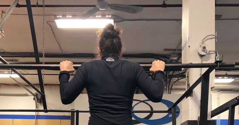 Top of a pull-up