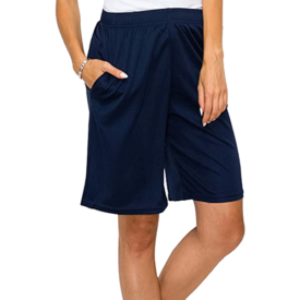 EttelLut Loose Athletic Basketball Boyfriend Knee Shorts