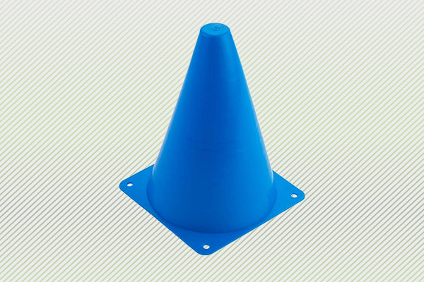 6 Pack GlowCity Light Up LED Agility Cone Set 7 Inches Tall