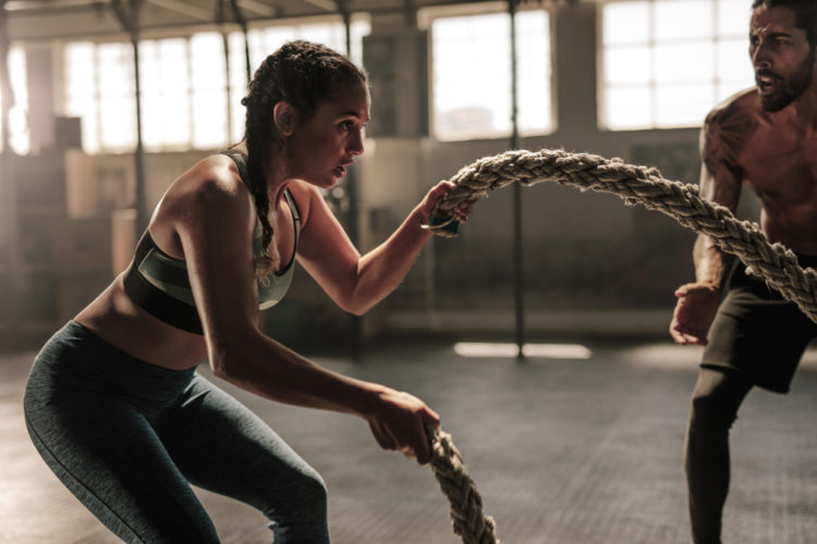battle ropes woman