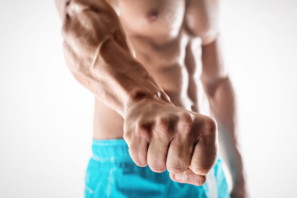 Fist for visualization while bracing your core