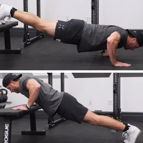 Incline and Decline Push-Ups