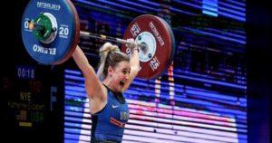 Weightlifter Katherine Nye