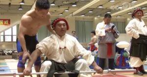 Lu Xiaojun Trains Traditional Tibetan Stone Lifters