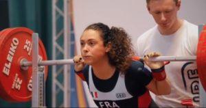 French Powerlifter Lya Bavoil