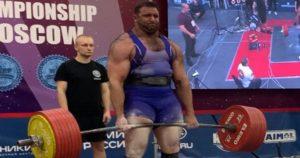 Iranian powerlifter and strongman Peiman Maheripourehir