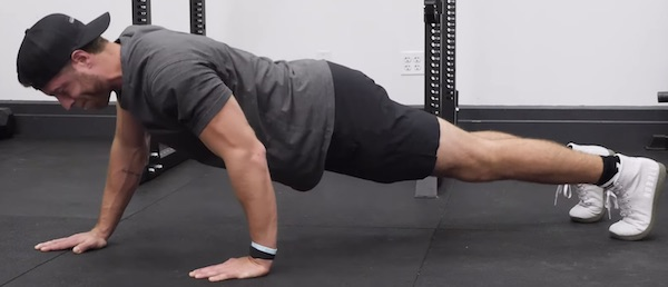 Stagger Grip Push-Up