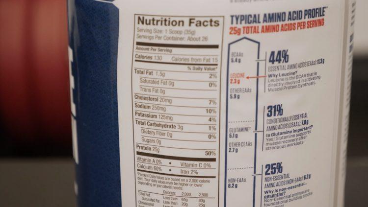 dymatize casein nutrition info