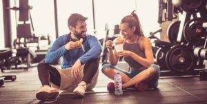 eating sugar in gym