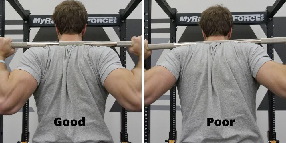 High-Bar Squat Bar Placement